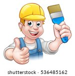 a painter decorator handyman... | Shutterstock .eps vector #536485162