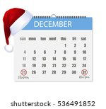 calendar for the year 2016 in... | Shutterstock .eps vector #536491852