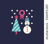christmas event icon. thin line ... | Shutterstock .eps vector #536492185