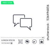 speech bubbles icon. vector... | Shutterstock .eps vector #536496856
