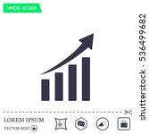 vector growing graph icon | Shutterstock .eps vector #536499682
