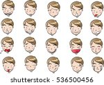 man face set | Shutterstock .eps vector #536500456