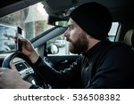 traffic offense man with... | Shutterstock . vector #536508382