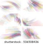 set of abstractions. raster... | Shutterstock . vector #536508436