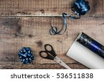 present wrapping accessories on ... | Shutterstock . vector #536511838