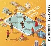 modern city society concept... | Shutterstock .eps vector #536514568