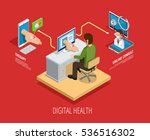 digital online medical care... | Shutterstock .eps vector #536516302