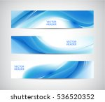 vector set of abstract blue... | Shutterstock .eps vector #536520352