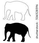 Elephant Silhouette  Vector...