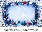frame. toned image. christmas... | Shutterstock . vector #536529562