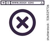 cross icon vector flat design... | Shutterstock .eps vector #536529736