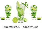 mojito isolated on white... | Shutterstock . vector #536529832