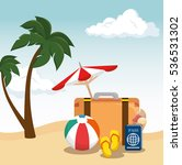 summer holidays travel icon | Shutterstock .eps vector #536531302