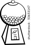 chewing gum ball vending machine | Shutterstock .eps vector #53653147