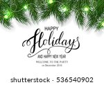 holidays greeting card for... | Shutterstock .eps vector #536540902