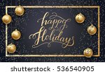 greeting card for winter happy... | Shutterstock .eps vector #536540905