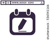 calendar icon vector flat... | Shutterstock .eps vector #536541166