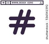 hashtags icon vector flat... | Shutterstock .eps vector #536541592