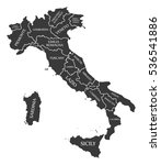 italy map labelled black   Shutterstock .eps vector #536541886