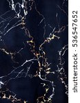 Plate Of Dark Blue Marble With...