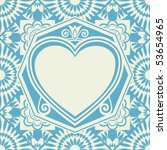 baroque heart background ... | Shutterstock .eps vector #53654965