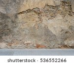 cracked concrete vintage wall... | Shutterstock . vector #536552266