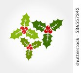 christmas holly berries icons... | Shutterstock .eps vector #536557342