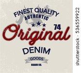 vintage denim print for t shirt ... | Shutterstock .eps vector #536559922