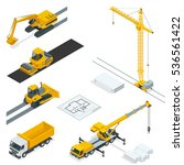 isometric construction icons... | Shutterstock .eps vector #536561422