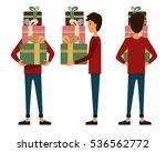 vector illustration of three... | Shutterstock .eps vector #536562772