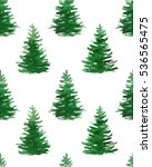 seamless pattern with christmas ... | Shutterstock . vector #536565475