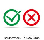check and wrong marks. vector... | Shutterstock .eps vector #536570806