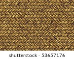 Golden Abstract Woven Straw...