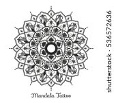 mandala decorative ornament... | Shutterstock .eps vector #536572636