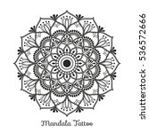 mandala decorative ornament... | Shutterstock .eps vector #536572666