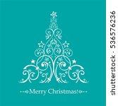 christmas card. christmas tree. ...   Shutterstock .eps vector #536576236