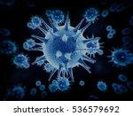 large group of blue virus cells ... | Shutterstock . vector #536579692
