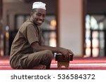 black african muslim man... | Shutterstock . vector #536584372
