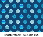 seamless pattern with christmas ... | Shutterstock .eps vector #536585155