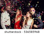 two beautiful young couples... | Shutterstock . vector #536585968