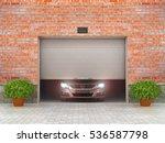garage concept. garage doors... | Shutterstock . vector #536587798
