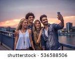 group of tourists enjoying city ... | Shutterstock . vector #536588506