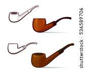 wooden varnished tobacco... | Shutterstock .eps vector #536589706