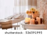 candles and flowers for... | Shutterstock . vector #536591995