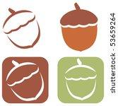 stylized acorn illustration... | Shutterstock .eps vector #53659264