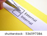 Small photo of External or internal? External