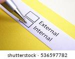 Small photo of External or internal? Internal