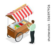 buying food. variety of... | Shutterstock .eps vector #536597926