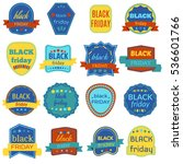 black friday sale badges and... | Shutterstock . vector #536601766
