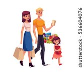 family of father  mother ... | Shutterstock .eps vector #536604076